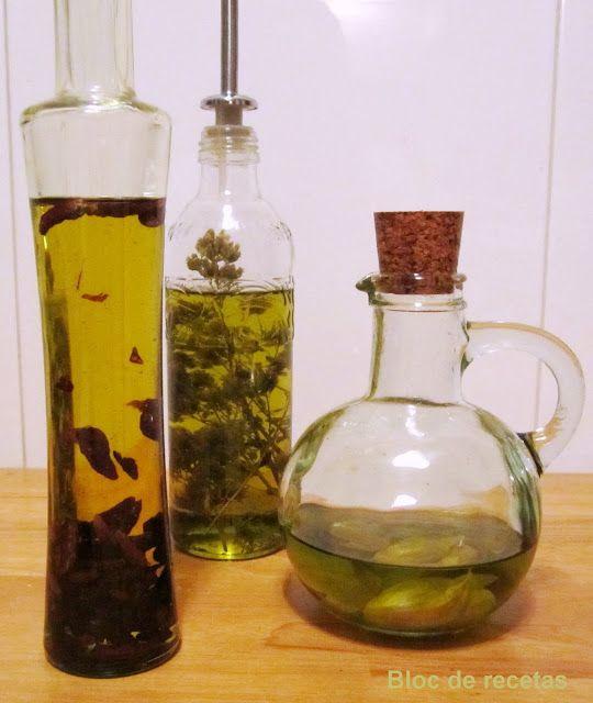 Bloc de recetas: Aceites aromáticos