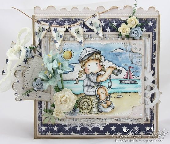 Tilda offshore from Summer Memories Collection, Magnolia stamps