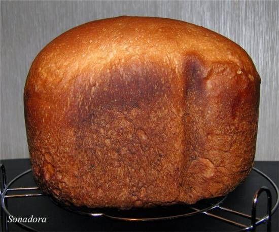 Хлеб пшеничный с мёдом и творогом (хлебопечка)