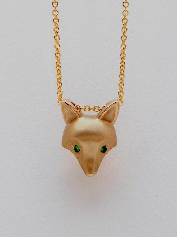 bronze fox pendant   green garnet eyes gold filled by Michaeltatom, $95.00: Gold Foxes, Bronze Foxes, Gold Fillings, Foxes Pendants, Green Garnet, Eye Foxes, Eye Gold, Green Eye, Garnet Eye