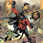 (Need) Collision  part 2, continued from RED ROBIN #9. When Tim Drake returns to Gotham City, the last person he expects to find in the Batcave is Stephanie Brown. But when Ra's al Ghul attacks on Batman's closest allies, Red Robin and Batgirl will have to put the past aside to save Leslie Thompkins's life. Continued in RED ROBIN #10.