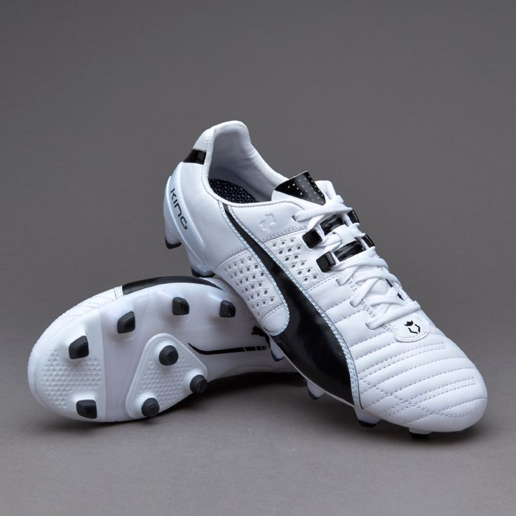 Puma King II FG - White/Black