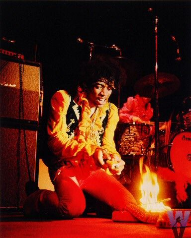 Jimi Hendrix at the Monterey Pop Festival ~ 1967