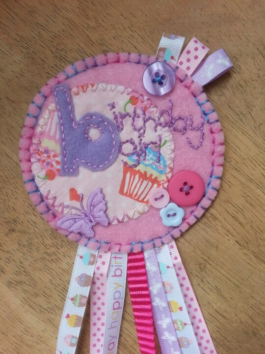 A girly badge for the birthday girl