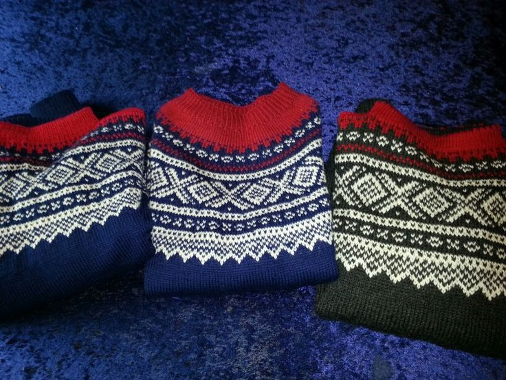 "Three norwegian ""Marius""sweaters"