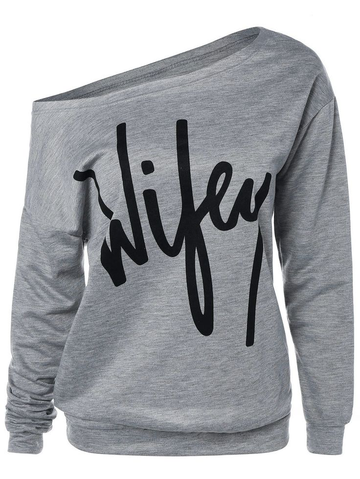 SHARE & Get it FREE | Wifey Print Skew Neck Pullover SweatshirtFor Fashion Lovers only:80,000+ Items • New Arrivals Daily • Affordable Casual to Chic for Every Occasion Join Sammydress: Get YOUR $50 NOW!