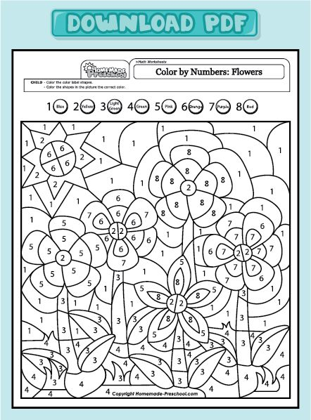 Get PDF Color by Number for Adults and Children Pinterest