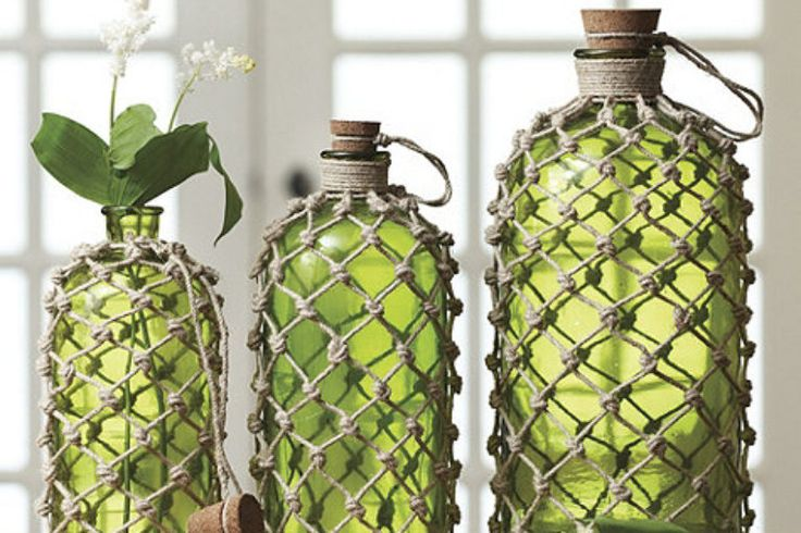 Knotted Jute Bottles