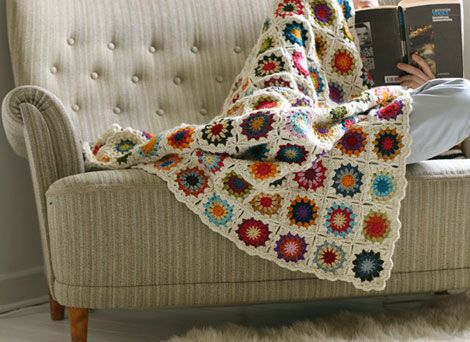 Trying to teach myself to crochet.  Would love to make this blanket.
