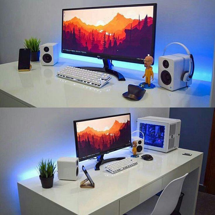 Minimal setup home design pinterest escritorios - Muebles para estudio de grabacion ...