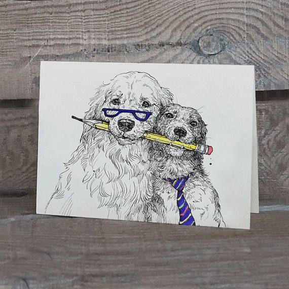 Postcard Best Friends / Dog friends/ Office colleague /