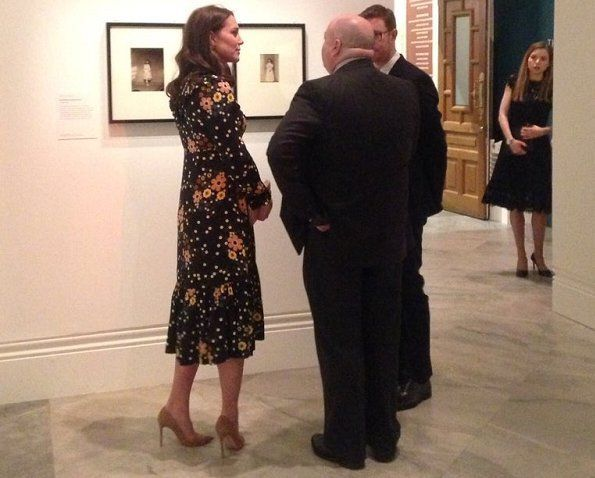 Duchess Catherine of Cambridge visited Victorian Giants exhibition