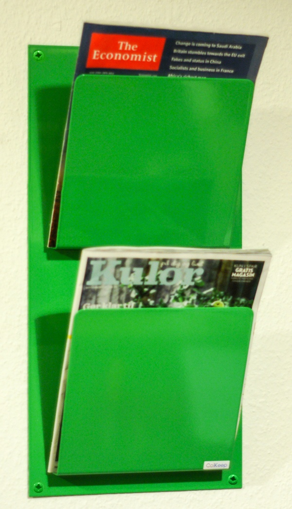 ColKeep : ColKeep Magasinholder x2 Grøn Dobbeltbladet magasinholder, her i forårs grøn :)