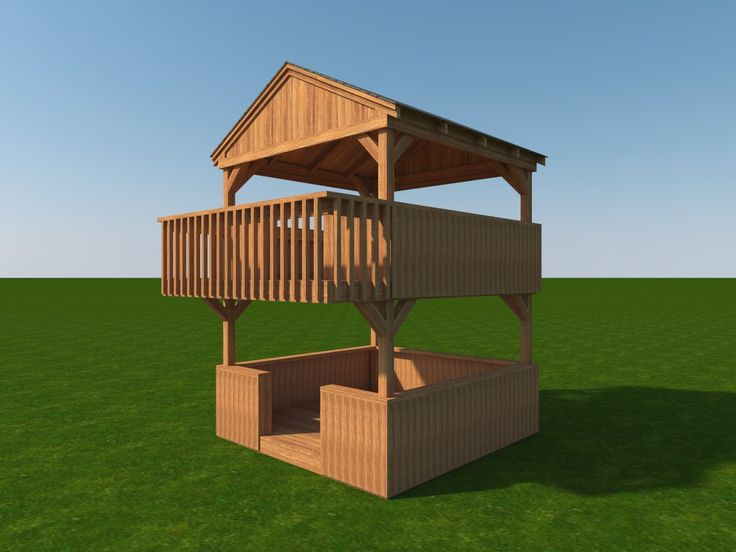 Build Your Own 2 Story Playhouse Fort Diy Plans Fun To