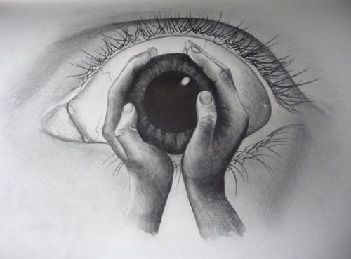 Drawing of Hands Holding Something | My Hands Holding My Eye by ~Szkolok on deviantART
