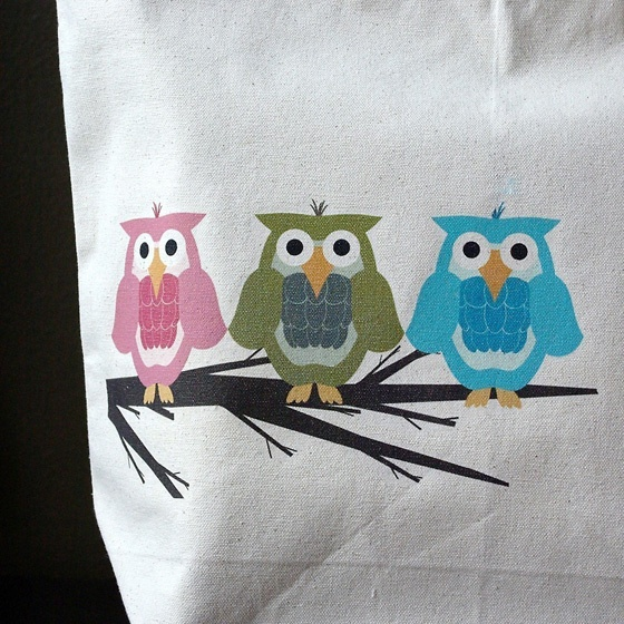 Owl tote bag by The Craft Pantry
