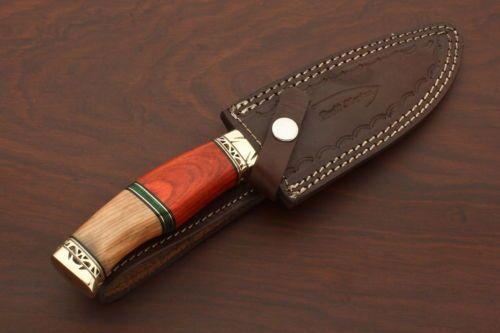 Personalizado Hecho A Mano De Acero Damasco, hoja fija, cuchillo de caza por Brett Martin