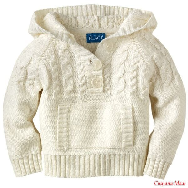 Вяжем детский пуловер с капюшоном. Он-лайн. Дополнено 7.08. - Вяжем вместе он-лайн - Страна Мам