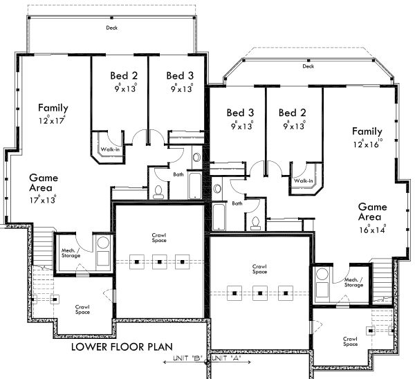 2 story duplex, lower floor