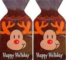 Reindeer Loot Bags with Ties - Rudolph - 25 Pack[Reindeer]