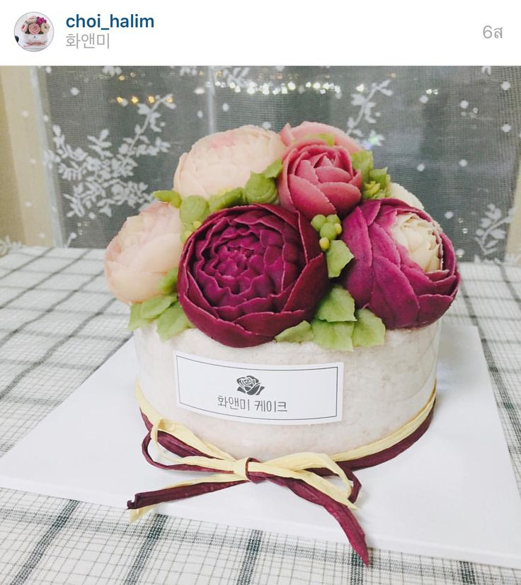 Korea 3D flower butter creamcake