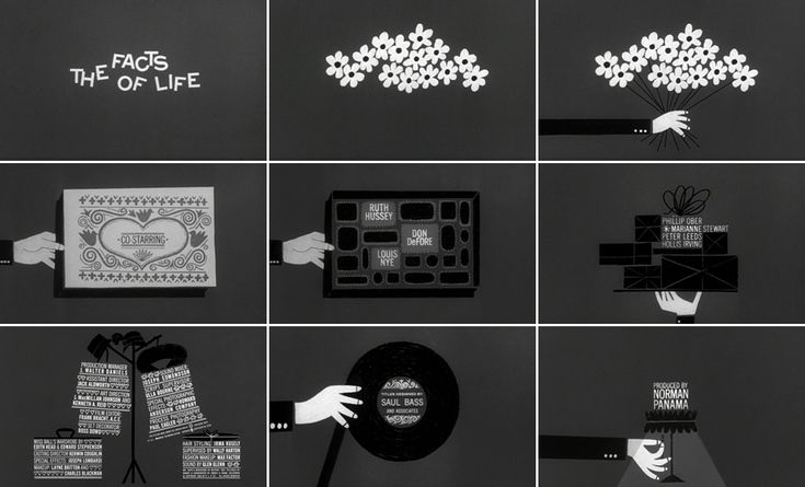 THE FACTS OF LIFE (1960) title design