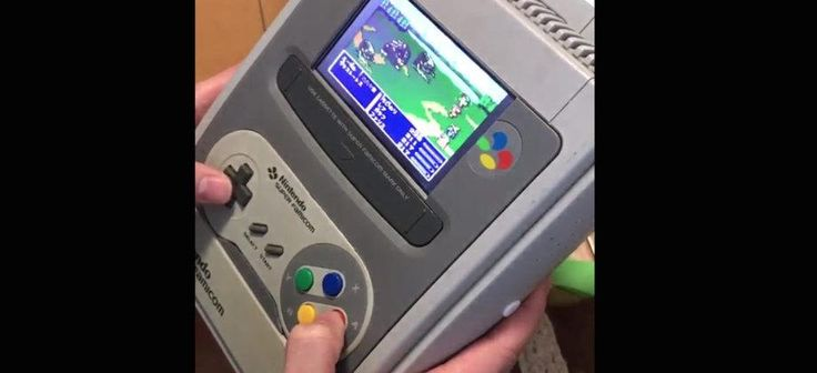 This SNES mod is the latest Nintendo console-portable hybrid