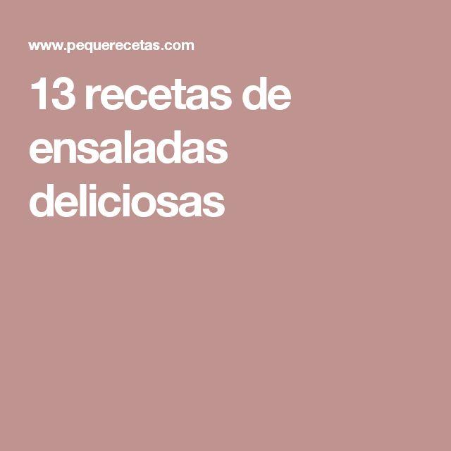 13 recetas de ensaladas deliciosas