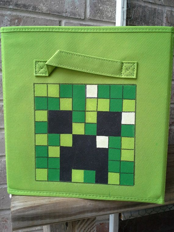 Hey, I found this really awesome Etsy listing at https://www.etsy.com/listing/181958136/minecraft-fabric-bin-storage