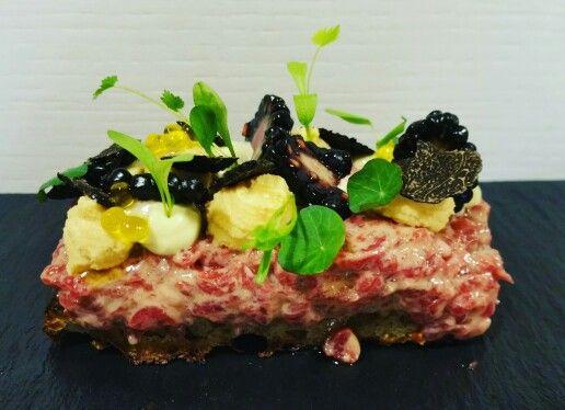 Beef tartar. Foie gras. Truffle.