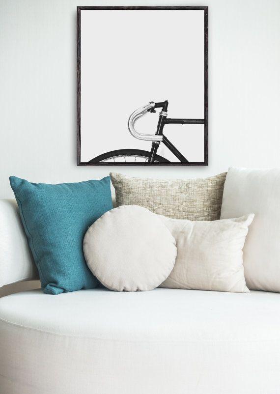 Fiets Wall afdrukken fiets afdrukbare fietsen door SummerSunHomeArt
