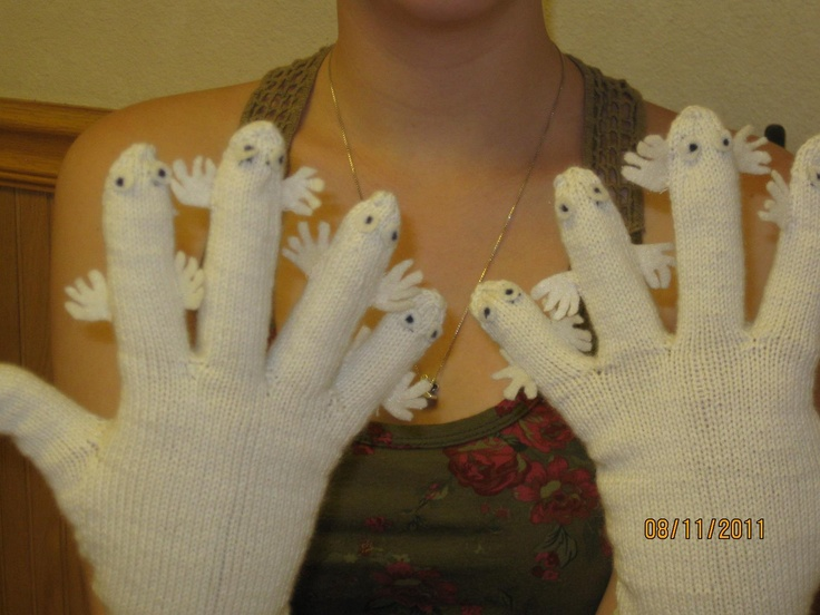Moomin hattifattener gloves! These are so awesome :D