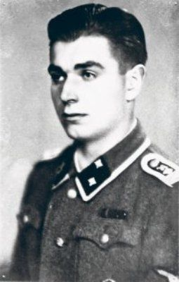 """Börje Brotell (1922-2009) in Waffen-SS uniform.  He served as machine gunner in the Finnish volunteer battalion of Waffen-SS in 1941-1943, and was wounded to his right thigh on August 15, 1942. After his return to Finland he became platoon leader in assault gun battalion of the Finnish armored division. During Battle of Tali-Ihantala, his Stu-40 (Ps. 531-10 """"Bubi"""") destroyed four T-34's and one ISU-152 at Leitimojärvi on June 25, 1944, and two T-34's at Portinhoikka ..."""