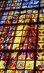 Stained glass, Notre Dame de la Paix, Yamoussoukro, Cote d'Ivoire