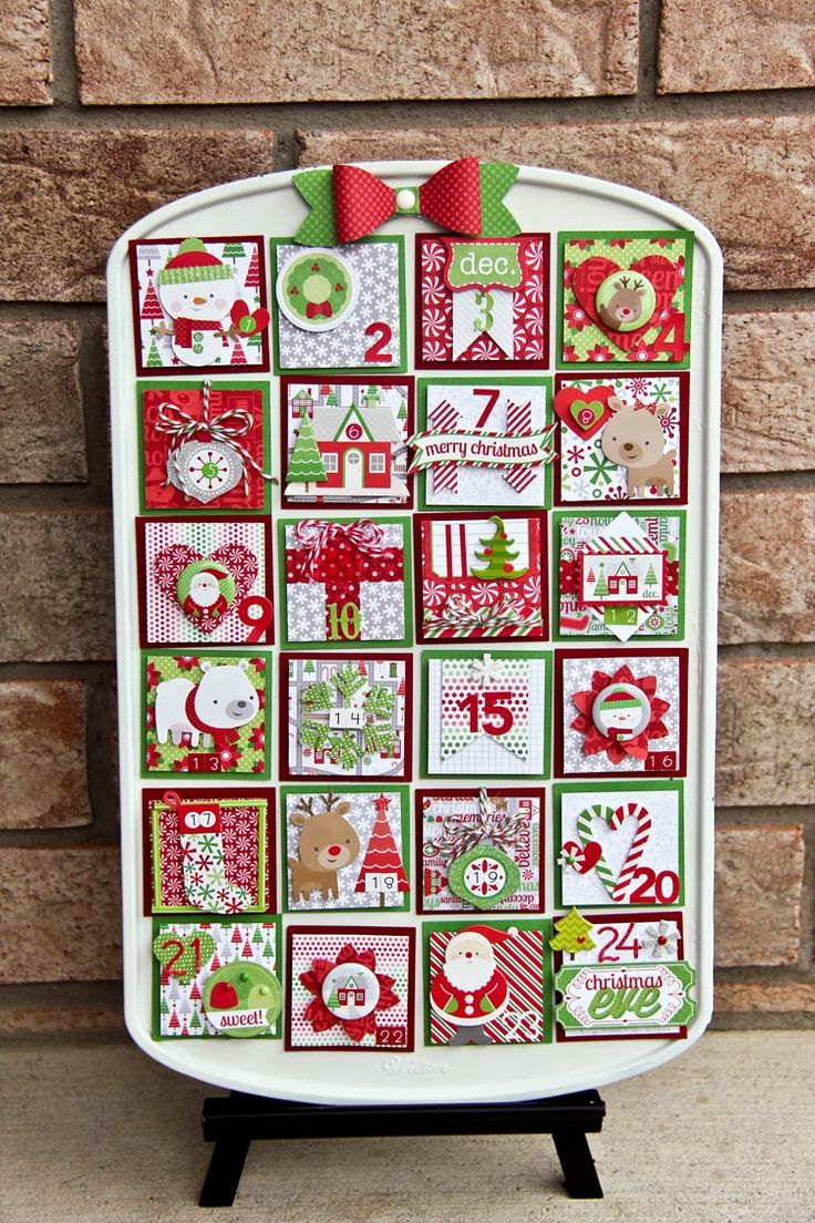 Love this. Christmas, muffin tin, magnets, advent, countdown, bow die cut  Doodlebug Design Inc Blog: Muffin Tin Advent Calendar by Jodi