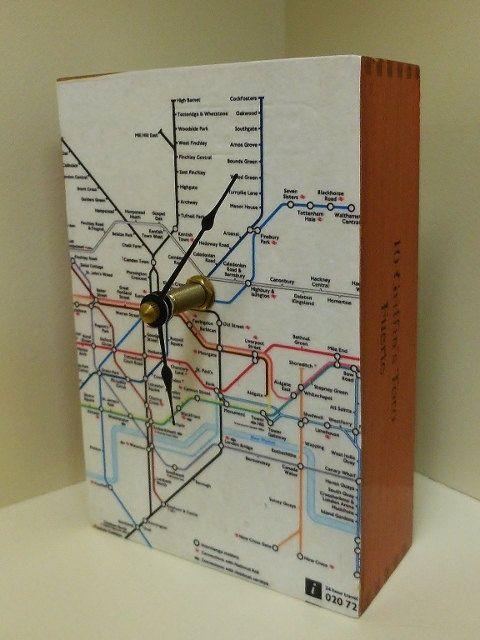 upcycled cigar boxes | London Underground Map Upcycled Cigar Box Wood ... | Cigar box Crafts