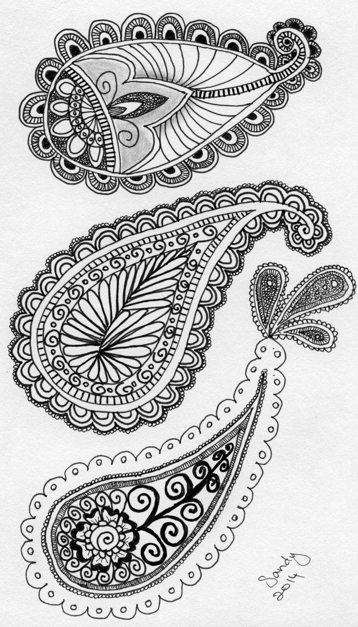 Paisley Zentangle design by Sandy Rosenvinge Lundbye.