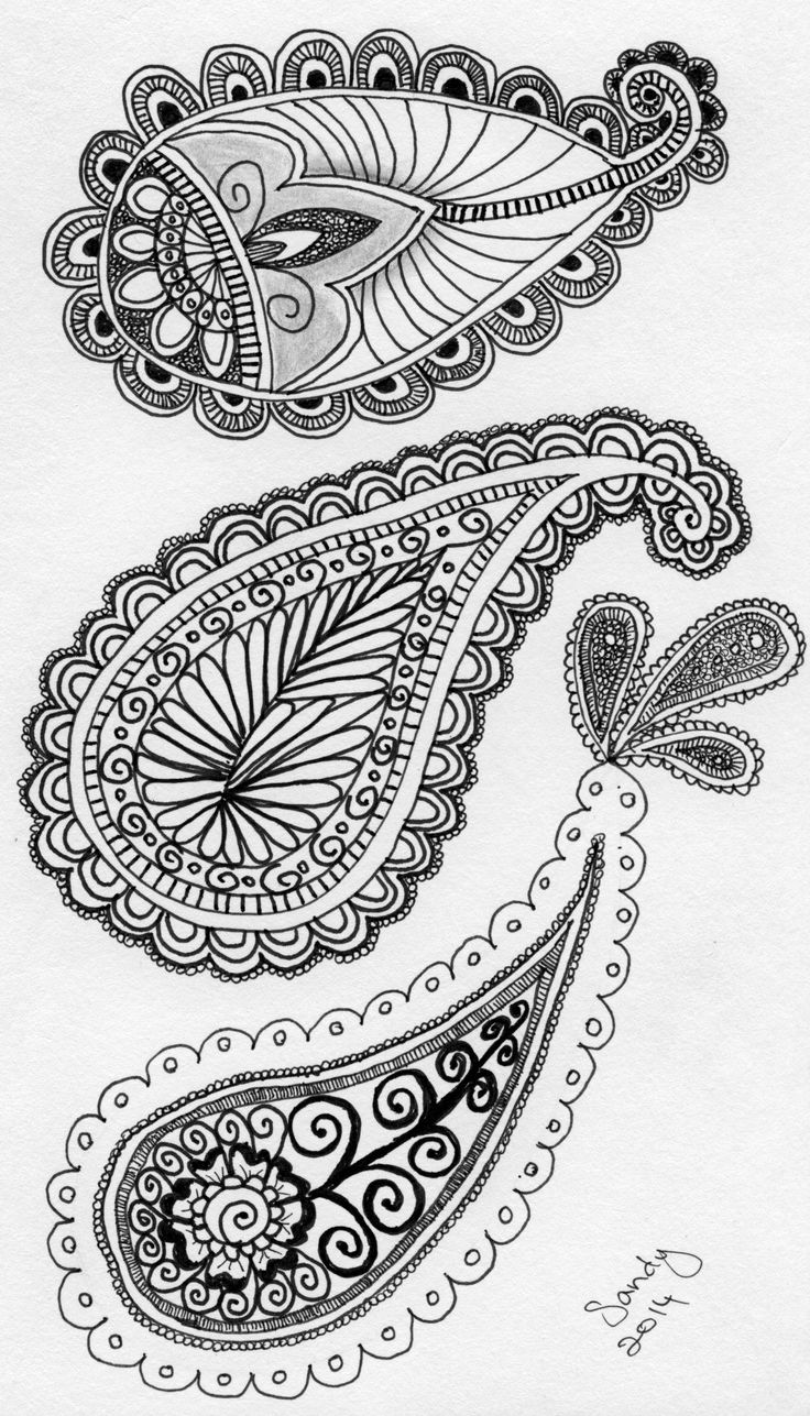 Paisley Zentangle design by Sandy Rosenvinge Lundbye.
