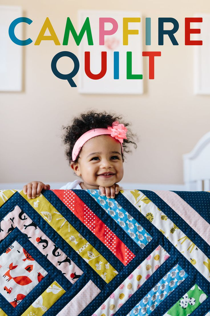 Rainbow Baby Quilt Pattern - Campfire Quilt digital PDF download