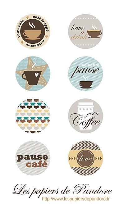 Etiquettes café coffee à télécharger