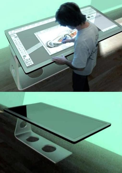 81×37u2033 Digital Blackboard, Virtual Keyboard And Mouse On A Touchscreen  Surface,. Drafting TablesDesign ...