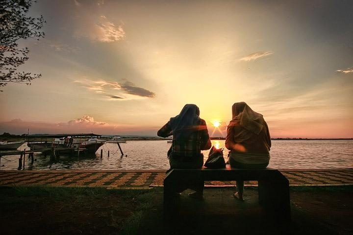 Sunset at Marina Beach, Semarang.