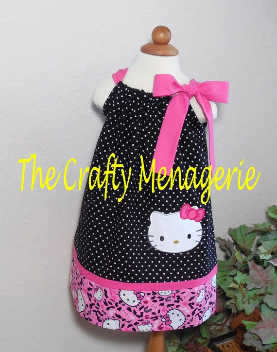 Super Cute Hello Kitty Inspired Toddler Girl by TheCraftyMenagerie, $28.50