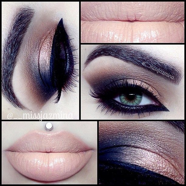 Bronze smokey eyeshadow