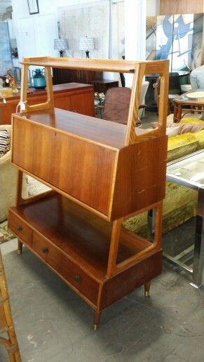 Mid century modern slope bar/desk cabinet.