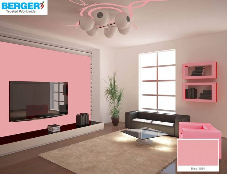 try attractive teapink color in your tv lounge berger. Black Bedroom Furniture Sets. Home Design Ideas