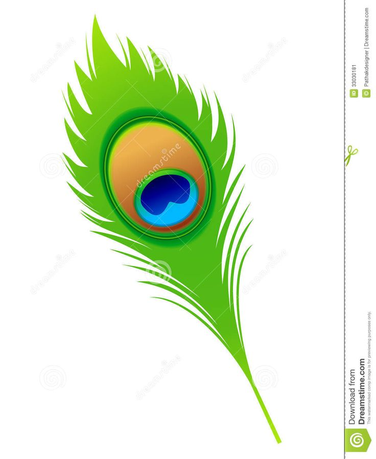 Abstract artistic peacock