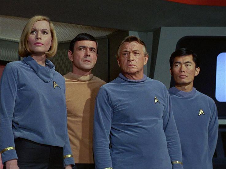 James Doohan, Sally Kellerman, George Takei, and Paul Fix in Star Trek (1966)