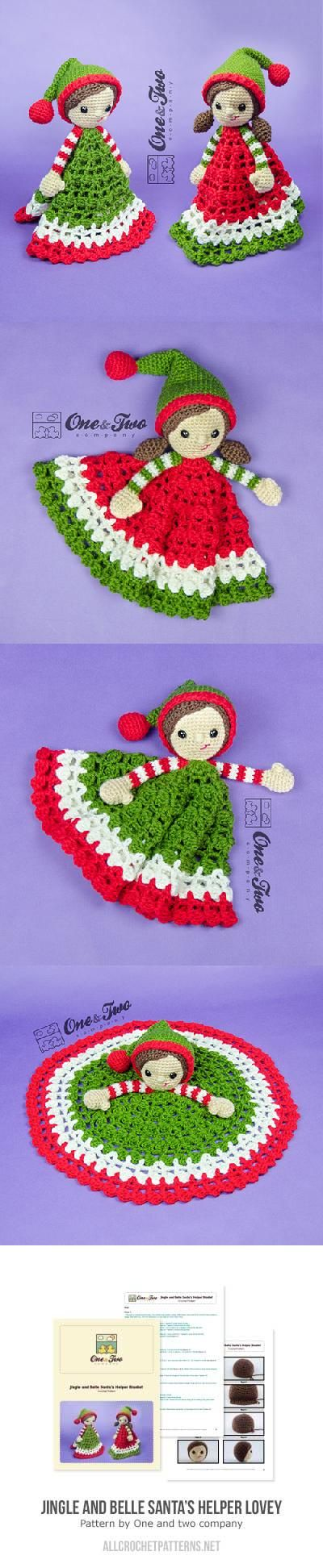 Jingle And Belle Santas Helper Lovey Crochet Pattern