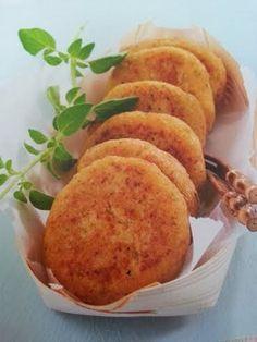 Hamburguesas de coliflor y queso